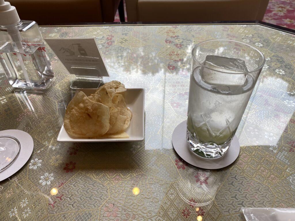ANAクラウンプラザホテル京都ウェルカムドリンク1
